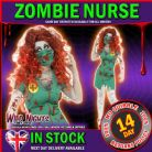 Halloween Fancy Dress # Ladies Zombie Bloody Scrub Nurse Costume Medium 12-14